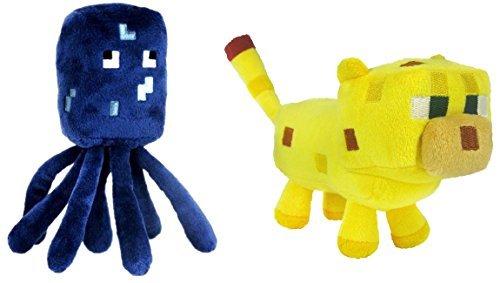 Ocelot Minecraft - Set Of 2 Ocelot And Squid