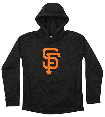 Outerstuff MLB Youth's Performance Fleece Primary Logo Hoodie, San Francisco Giants Medium ()