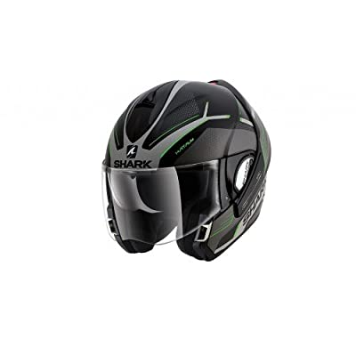 Shark Evoline Series 3 Hataum Matt Black Silver Green Helmet (L)