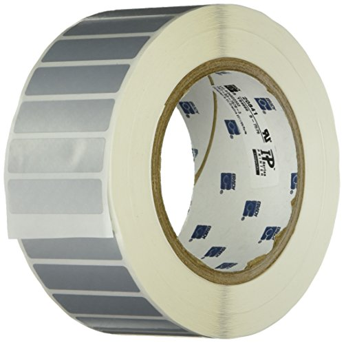 Brady THT-53-7576-3 Tamper-Evident Metallized Polyester Thermal Transfer Printable Labels , Silver (3,000 Labels per Roll, 1 Roll per Package) by Brady