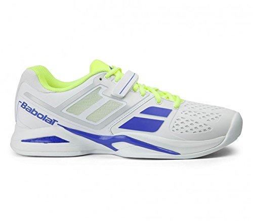 Babolat - Propulse Clay Chaussures de tennis pour hommes (blanc/jaune) - EU 45 - UK 10,5