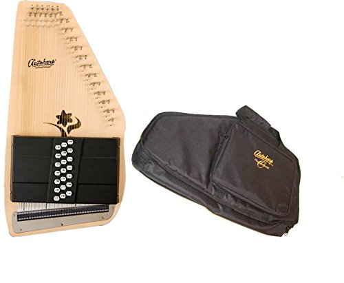 Oscar Schmidt 21 Chord Autoharp w/ Gig Bag, Flower Shaped Soundhole, OS45CE by Oscar Schmidt