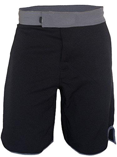 Blank WOD Shorts by Epic MMA Gear (Men 32, Black/Grey)