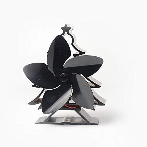 Mejorar el árbol de Navidad Estufa Ventilador Chimeneas de 5 aspas para Habitaciones Grandes, Ventilador de Calor ...