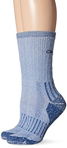 Pack Navy Crew Sock 2 (Carhartt Women's 2 Pack All-Terrain Crew Socks, Navy, Shoe: 5.5-11.5)