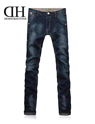 Fashion Pantalones Vintage Pantalones Pantalones Jeans Pants Hombres Stretch Fit Casuales Skinny Nn Blau Mezclilla Straight Joven Denim Mens De 6wSq0pS