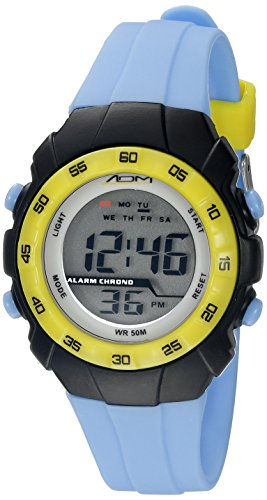 American Design Machine Jr. Kids' ADSG 5001 BLU Phoenix Digital Display Japanese Quartz Blue Watch