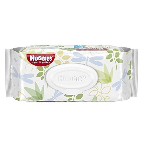 Huggies Natural Care Fragrance Free Baby Wipes, 112 Total Wipes 56 Count Each (Pack of 2) by Kimberly-Clark