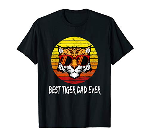 Vintage Best Tiger Dad Ever Tigers Daddy Fathers Day Gift  -