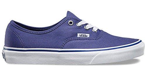 Vans Authentique Bleu Blanc Femmes Formateurs De Toile Chaussures
