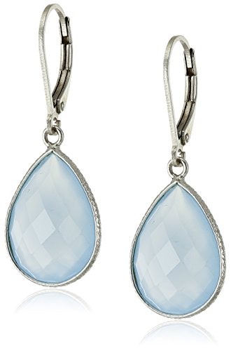Sterling Silver Teardrop Gemstone Earrings