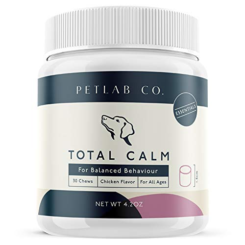 Pet Lab Hemp Chews Calming Treats for Dogs Composure | Melatonin Dog Anxiety Relief Bites | Peaceful Pup Calm Stress Rescue Remedy Aid