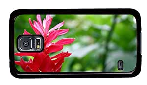 Hipster water proof Samsung Galaxy S5 Case Ginger Flower PC Black for Samsung S5