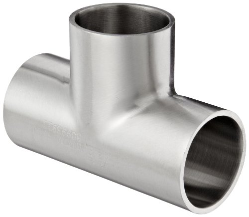Dixon B7WWW-R100P Stainless Steel 316L Polished Fitting, Weld Short Tee, 1'' Tube OD by Dixon Valve & Coupling
