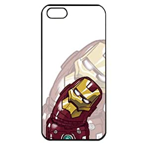 Popular Cute Cartoon Iron Man Apple iPhone 5 TPU Soft Black or White case (Black) by supermalls