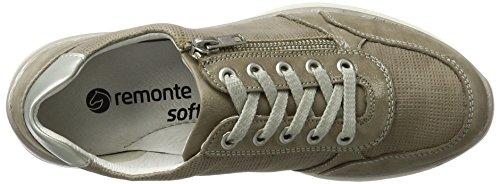 Remonte D5304, Zapatos de Cordones Derby para Mujer Beige (Murmel/elefant/silver/42)