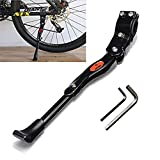 Z ZICOME Adjustable Aluminium Alloy Bike Bicycle Kickstand + 2 X Allen Hexagon Wrenches Help You Install Easily - Adjustable for 20 Inch 24 Inch 26 Inch Tire and 700 Road Bicycle - Black