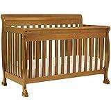 DaVinci Kalani 4-in-1 Convertible Crib Set with Full/Twin Size Rail Conversion Kit in Chestnut