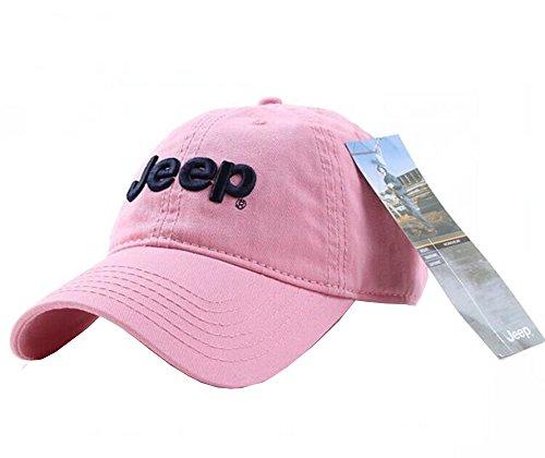 Jeep Unisex Adjustable Horizon Classic Cap  Pink  Free Size