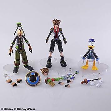Amazon com: Kingdom Hearts 3 Bring Arts Figures Set - Sora, Donald