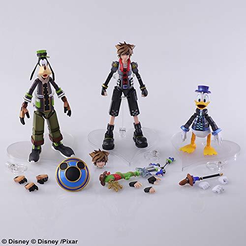 Kingdom Hearts 3 Bring Arts Figures Set - Sora, Donald, Goofy (Game not Included)