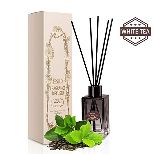 ESSLUX Room Diffuser, Home Fragrance Diffuser Premium Quality for Home and Office, Air Freshener & Home Decor & Ideal Gift-White Tea