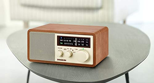 Sangean WR-16 AM/FM/Bluetooth Wooden Cabinet Radio with USB Phone Charging by Sangean (Image #3)