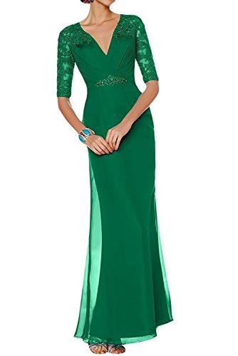 Dunkel Braut V Marie Langarm ausschnitt Brautmutterkleider Lila Abendkleider Grün La Etuikleider Partykleider Damen 65xtwqXXp