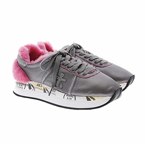 Conny Woman's Sneaker 36 Grey Fabric Leather Premiata 2613 And FxwqAA4