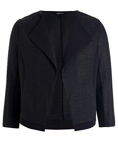Chicwe Womens Stylish Plus Size Cardigan Jacket Blazer with Draped Collar 1X-4X