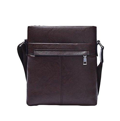 Men Briefcase Business Fashion Handbag Casual Bag Brown1 Wild Messenger Pu Shoulder UrUxXZ