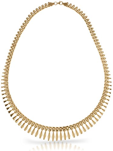 - SilverLuxe 18kt Gold over Sterling Silver Graduated Design Bib Style Cleopatra Necklace