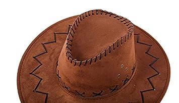 breite Krempe Nykkola Unisex Deluxe Cowboyhut Wildleder