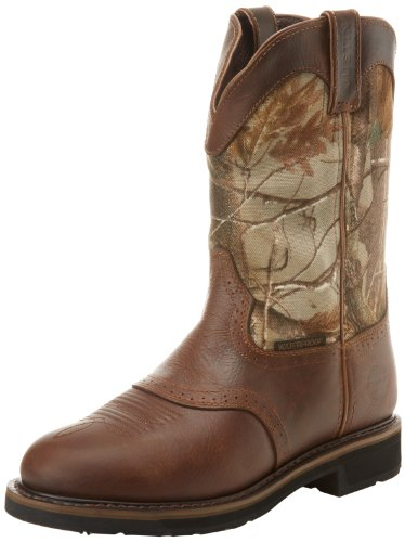 Justin Original Work Boots Men S Stampede Camo Waterproff Wk Work Boot Buy Online In Uae Shoes Products In The Uae See Prices Reviews And