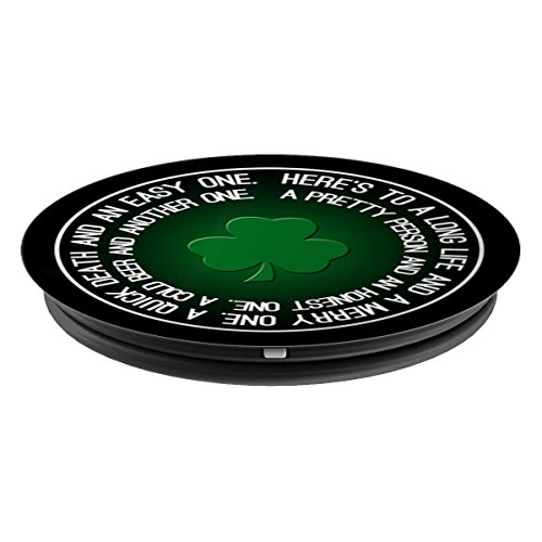 Lucky Shamrock Clover St. Patrick's Day Irish Toast - PopSockets Grip and Stand for Phones and Tablets by Mix Web Shop (Image #1)