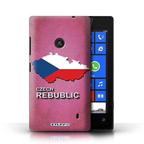 Kobalt® Imprimé Etui / Coque pour Nokia Lumia 520 / Tchèque/Czechian conception / Série Drapeau Pays