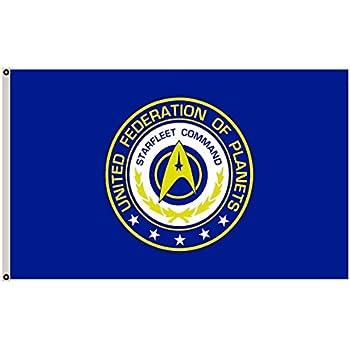 Amazon Star Trek Federation Of Planets Flag 3 X 5 Garden
