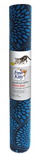 Fresh Kitty Microfiber Foam Litter Mat, Blue ()