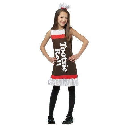 Rasta Imposta Tootsie Roll Ruffle Dress Child Costume Small 4-6X -