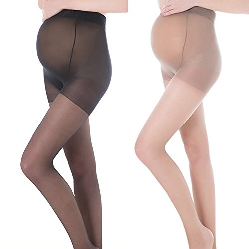 Pueri Compression Maternity Pantyhose Stretch Pantyhose Maternity Support Compression Stockings (A: Skin Color)