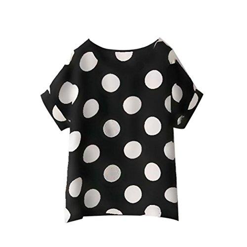 Printed Noir shirt en d't souris chauve Circle manches femme mousseline soie ROPaLIA pour de Fille Multicolors Tops longues ample 8aFU8S