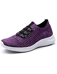 Women's Athletic Walking Shoes Comfortable Slip-On...