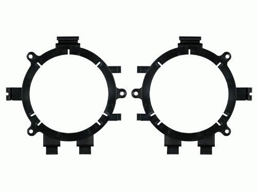 Car Speaker Bundle Combo: 2 Pairs of Jensen MSX60CPR 6.5'' Inch 150 Watts 2-Way Black Car Stereo Coaxial Speaker W/ Adapter Brackets + Wiring Harness + Enrock 50 Foot 16 Gauge Speaker Wire by EnrockAudioBundle (Image #3)