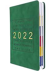 دفتر ملاحظات مخططة 2022 من تويفيان وكتابة مذكرة ودفتر أعمال كتابات مذكرات طلاب لللوازم المدرسية المكتبية (أزرق داكن)