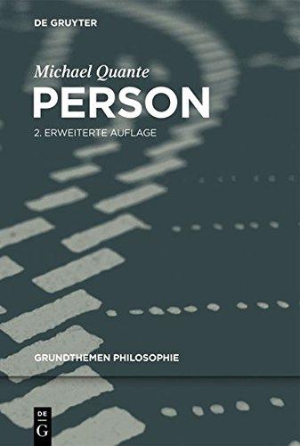 Person (Grundthemen Philosophie)  [Quante, Michael] (Tapa Blanda)