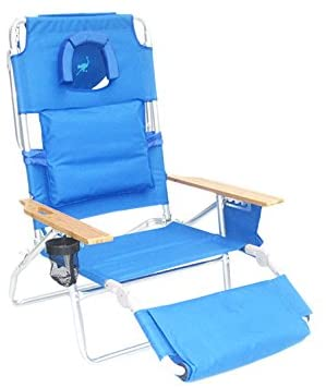 Ostrich Deluxe Reclining Beach Chairs Portable
