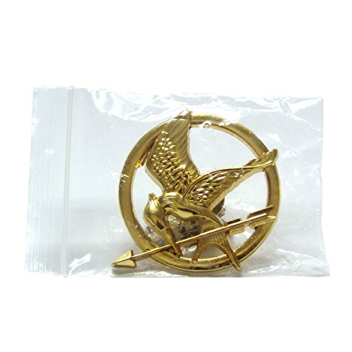 The Hunger Games Brooch Gold Mockingjay Pin Scholastic Movie Prop Replica Model -