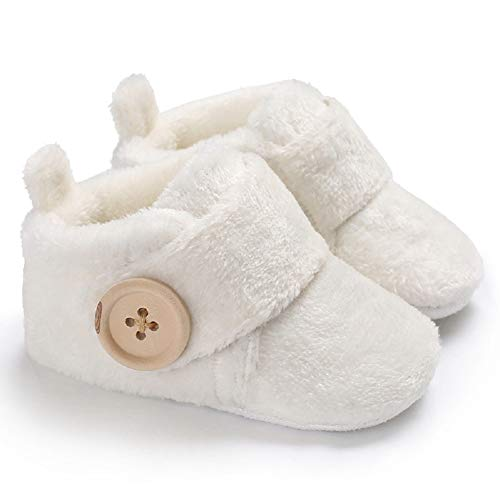 Pictures of Fnnetiana Infant Baby Plush Slippers Indoor Bedroom 1