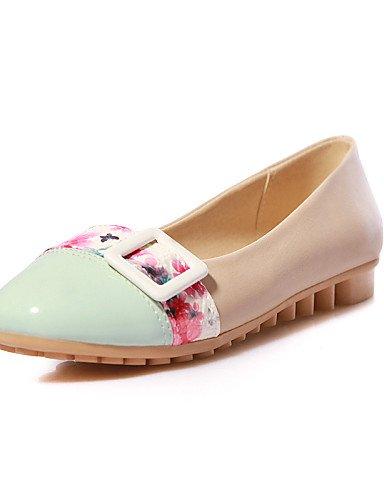 Flats uk6 plano almond punta mujer de cn39 Casual us8 azul redonda PDX Beige piel sintética zapatos de Beige eu39 talón wZg4wx1Uvq