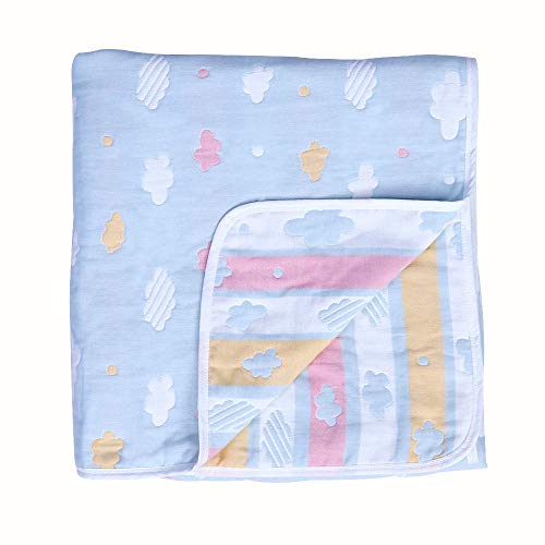 - Oversized Muslin Toddler Blanket Hypoallergenic Organic Cotton Bed Blanket Lightweight Breathable Muslin Baby Quilt Soft Blanket for Crib and Stroller 47